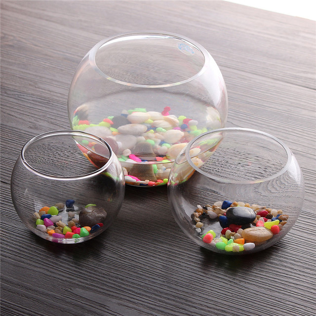 Round Clear Glass Fish Tank Aquarium Terrarium Round Glass Vase Ball