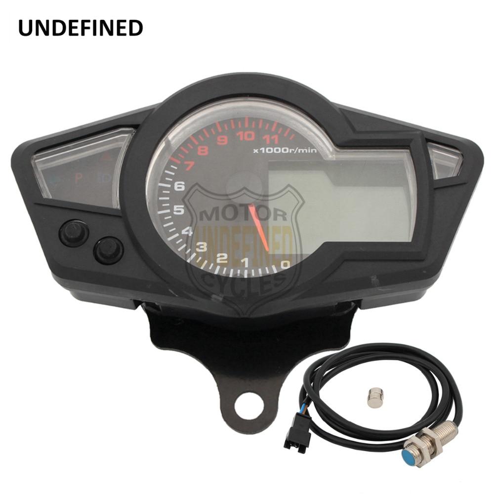 Universal Motorcycle Speedometer Lcd Digital Tachometer