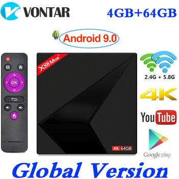 2019 Android 9,0 tv BOX X88 MAX Plus 4 Гб ram 64 Гб rom RK3328 Penta-Core 2,4G/5G Dual Wifi X88MAX + Smart 4 K медиаплеер