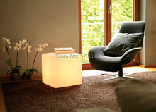 30CM led Furniture chair Magic Dice waterproof LED Remote controll square cube lumineux light for home/bar/nightclub/wedding 30cm led light cube lumineux led rechargeable cube illuminated cube chair free shipping