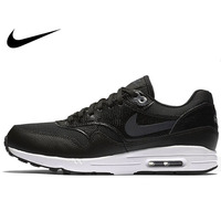 Original Authentic NIKE Air Max 1 Women's Running Shoes Sneakers Breathable Sneakers Black Classic Sport Outdoor Walking Jogging