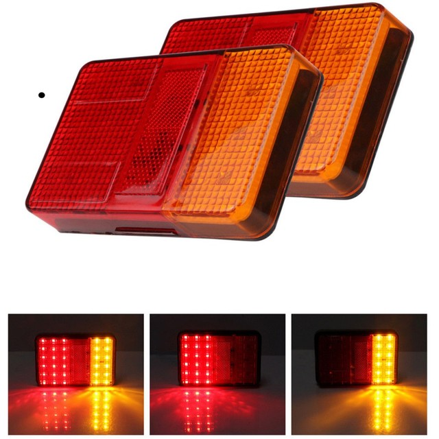 Fuleem 2PCS 30 LED Tail Brake Light Stop Reverse Lamp Car Truck Van Trailer 12V