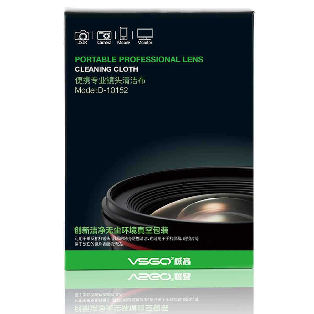 Paño de limpieza de lentes de microfibra óptica VSGO Magicfiber - Cámara y foto - foto 2