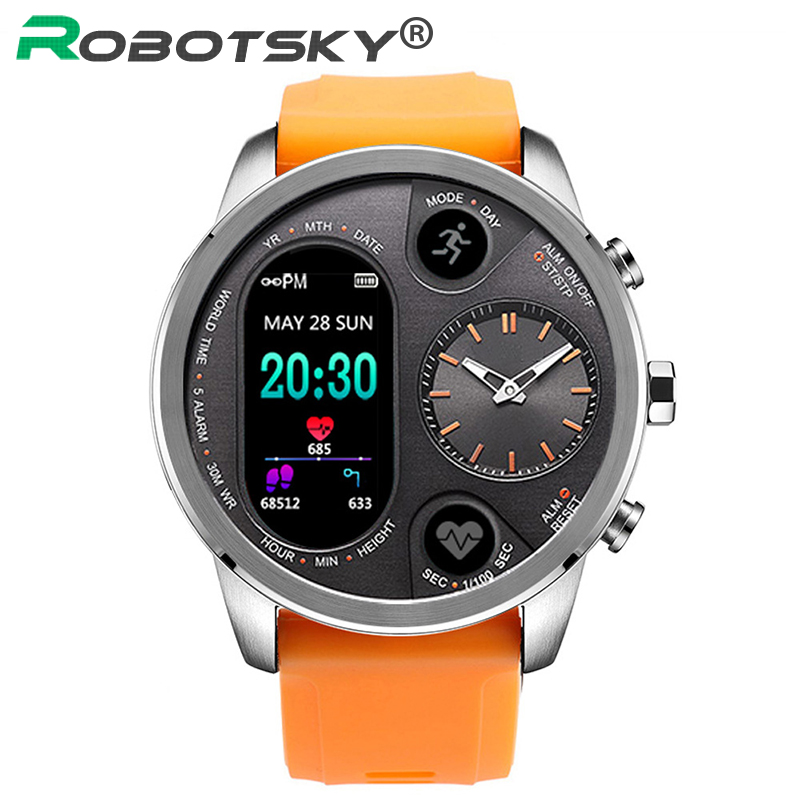T3 Sport Hybrid Smart watch Fitness Activity Heart Rate Tracker IP68 Waterproof Standby 15 Days BRIM
