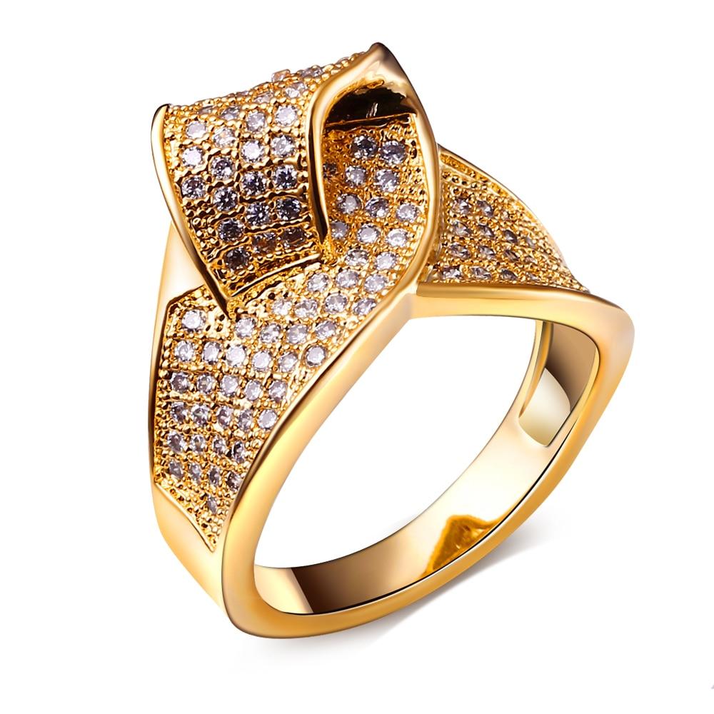 Fashion Engagement Ring for Women Setting White AAA CZ Stone Glod ...