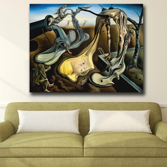 Wall Art Salvador Dali Depict a night Painting For Living Room Home Decor Oil Painting on Canvas Wall Painting Unframed 2