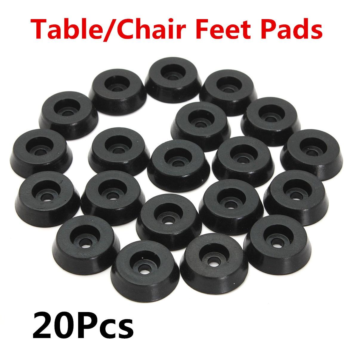 20pcs Rubber Table Furniture Chair Table Feet Leg Bottom Tips Pad Tile Floor Protectors Black 18x15x5mm chair