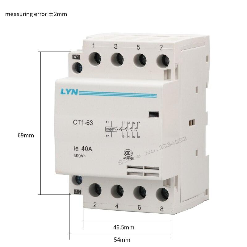 Household Electric AC Contactor 4P 4NO//4NC 100A 110V 50//60HZ AC Contactor