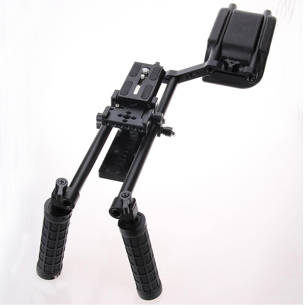 CAMVATE DSLR Rig Shoulder Support Mount Rig Kit Video Camera Stabilizer Dslr Cage Steadicam for SLR Video Camera dslr rig double hand handgrip shoulder