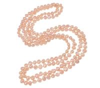 Free Shipping Natural Freshwater Pearl Necklace Statement 2 Strand Pink 4 8mm Sold Per Approx 48