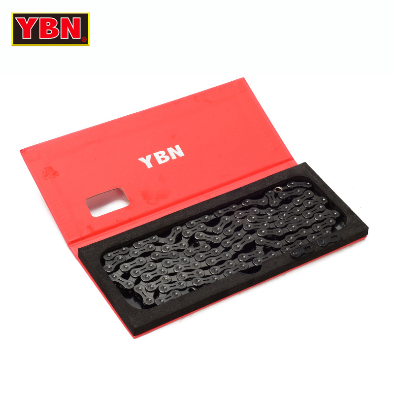 YBN chain bicycle half hollow 11 speed bike chain mountain road bike 11 variable ultralight 279g 112 links boxed black diamond 2017 new original ybn 11 speed diamond black mtb mountain road racing bike chain sla 110bg