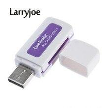 Larryjoe Venda Quente USB 2.0 Leitor de Cartão de Memória para M2 4 em 1 SD MS TF Adaptador de Cartão de Cor Aleatória