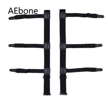 AEbone Mens Shirts Suspenders 2Pairs Shirt Stay for Men Elastic Shirt Stays Garters Keep Shirt Tucked In Uniform Sus47 фото