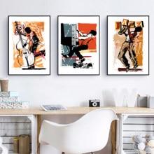 Afro Amerikaanse Jazz Singer Illustratie Posters En Prints Music Wall Art Decor Saxofoon Speler Canvas Schilderij Muzikant Gift