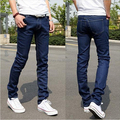 Men jeans 2017 New Fashion Pencil Pants Skinny Jeans Elastic Slim Fit Stretch Men Straight Little Feet Blue Black Jeans Homme