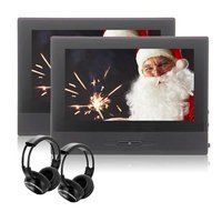 EinCar 8 Inch Car Headrest DVD Player HD 1080P TFT LCD Screen Rear Seat Monitor Car Entertainment FM Dual IR Headhphones