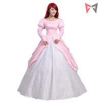 The Little Mermaid Princess Ariel Pink Dress Cosplay Costume For Adult Women Party Custom Made Quality