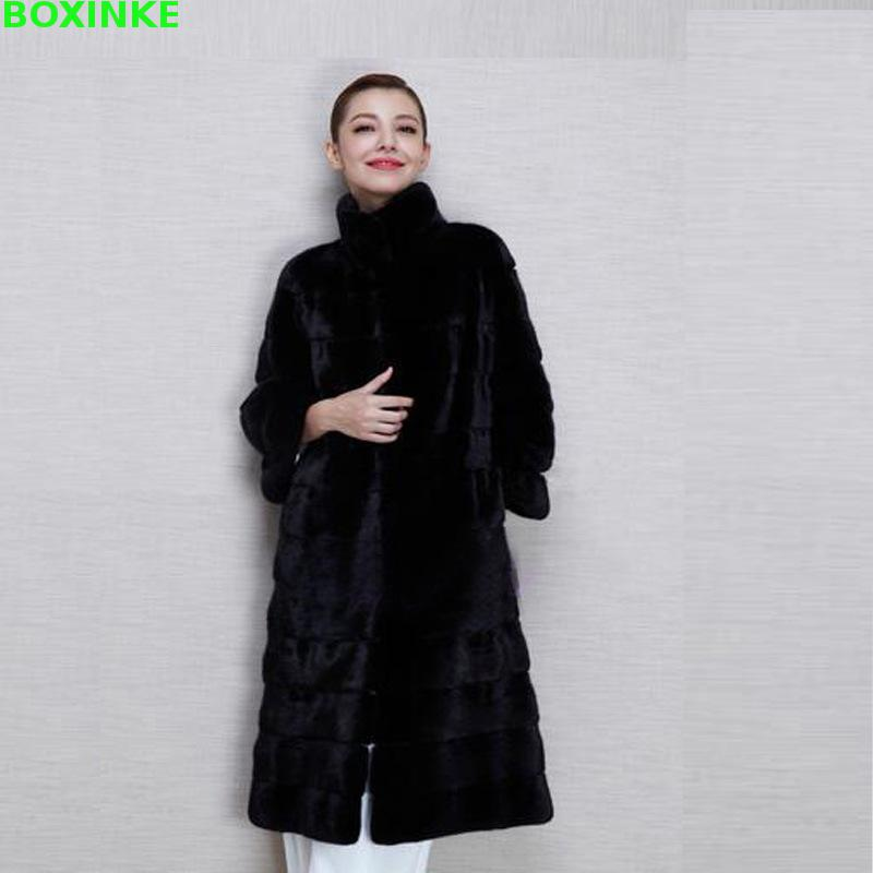 Limited Rushed Full <font><b>Coat</b></font> Vest Large Size Women Ladies Imitation Female Fox Rex Rabbit In The Long Section Of <font><b>Mink</b></font> image
