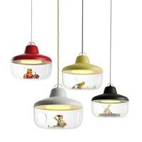 Hghomeart мультфильм Средиземноморский светодио дный современное освещение люстры детская комната светодио дный Люстра потолочная дети 110 V 220 V