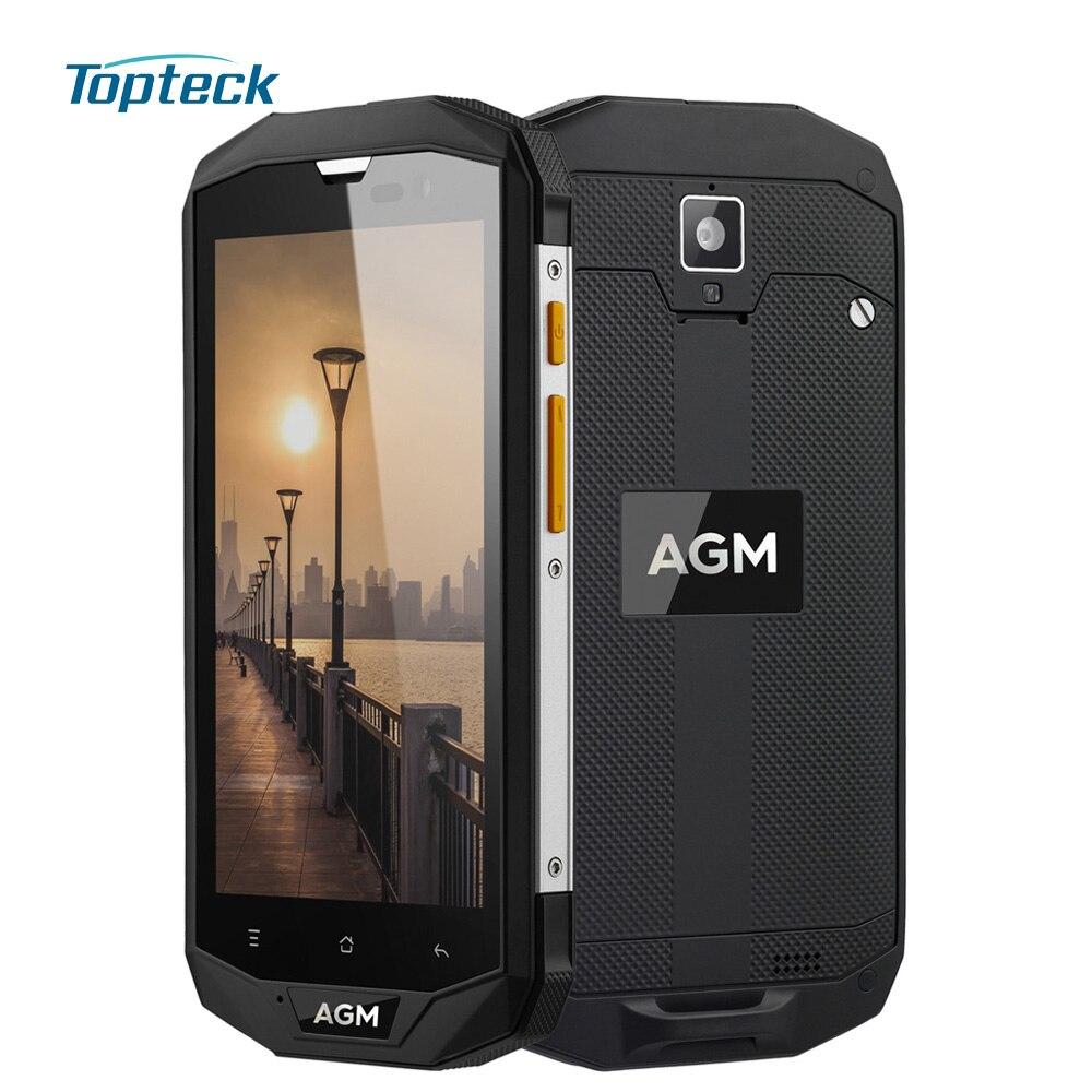 "Цена за Agm a8 ip68 водонепроницаемый противоударный 4 г 4050 мАч otg nfc смартфон android 7.0 qualcomm adreno 306 5.0 ""3 ГБ + 32 ГБ 13MP Мобильный Телефон"