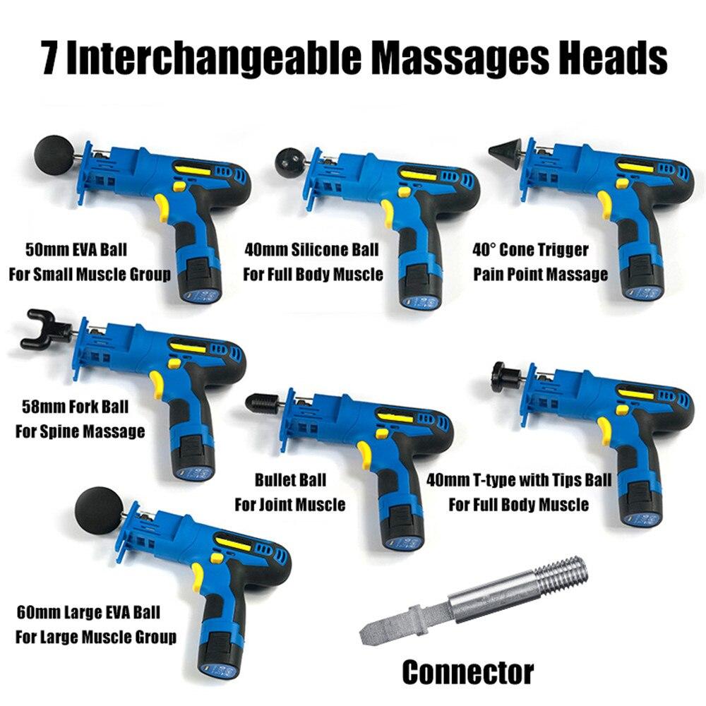 New Arrival Electronic Muscle Relaxing Massage Gun Fascia Therapy Gun Deep Muscle Massager High Frequency Vibration Massage Gun