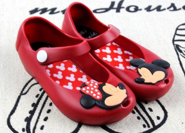 50f9bb724d2ed Minnie Mouse chaussures bébé garçon fille sandales dessin animé Minnie  chaussure enfant été plage gelée chaussure