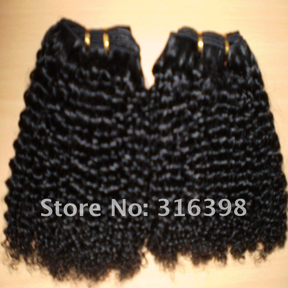 Good Quality Jerry Curl Natural Color Brazilian Virgin Hair weft