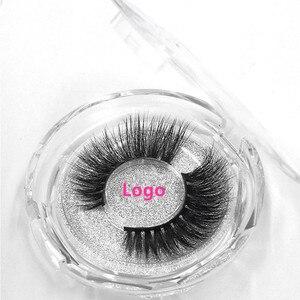 Image 4 - 50pcs Mink Lashes Luxury Natural long Mink False Eyelashes Cross Thick Extension Eyelashes 18Styles Free Logo Wholesale