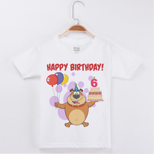 New Arrivals Birthday T-Shirt Boy Cute Dog Printing Cotton Short Sleeve Children Clothes Kids T Shirts Boys Clothing Child Tops