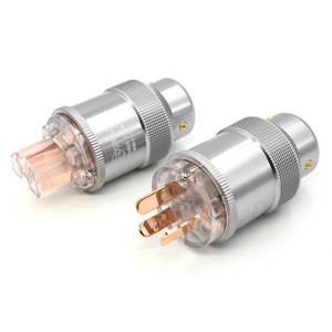 Image 3 - Hi End Rood koper AU netsnoer Australië standaard stekkers + IEC Connector voor Hifi audio diy power kabels