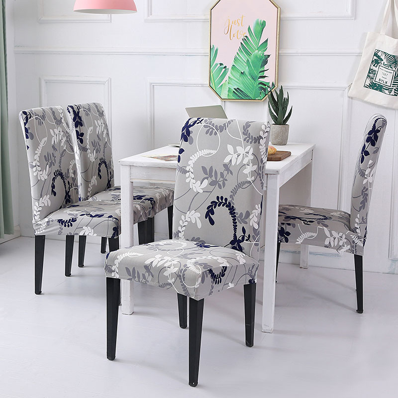 Housse de chaise Spandex housse de siège amovible pour bureau salle à manger mariages fête Banquet taille universelle 1/2/4/6 PC housse de chaise