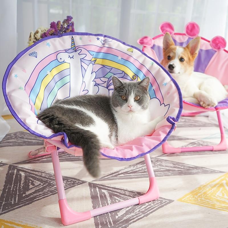 Kat Stoel Kat nest Hond nest mat Huisdier mat Non stained Zomer Kat artikelen opvouwbare ligstoel kat bedden mat kitten kussen