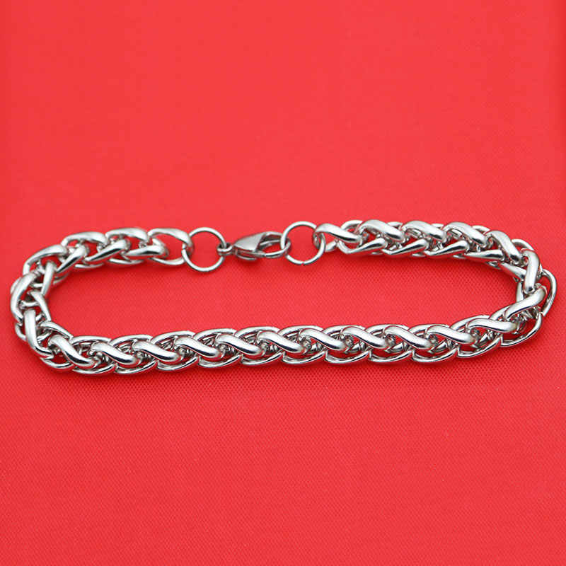 316L Stainless Steel Bracelet 3mm 4mm 5mm 6mm 7mm Lanterns Necklace Bracelet For Women Men Girl Boy