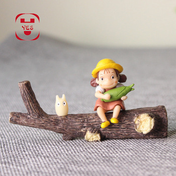 YES My Neighbor Totoro Xiaomei Dead Wood Dry Branches Miniatures Fairy Garden Decoration Resin Crafts DIY Moss Micro Landscape 1