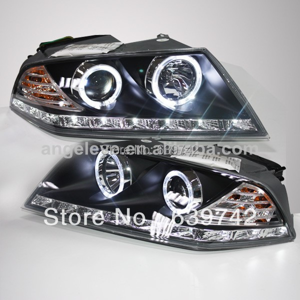 For Skoda Octavia LED Head Lights with Bi Xenon Projector Lens 2007-2009 year for chevrolet cruze tuning bi xenon projector lens head lights with led turn light 2015 year new arrival