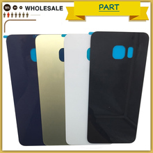 New S6 Edge Plus Back Glass Battery Cover Housing For Samsung Galaxy G920 G925 G928 S6Edge Back Door Battery Case For S6