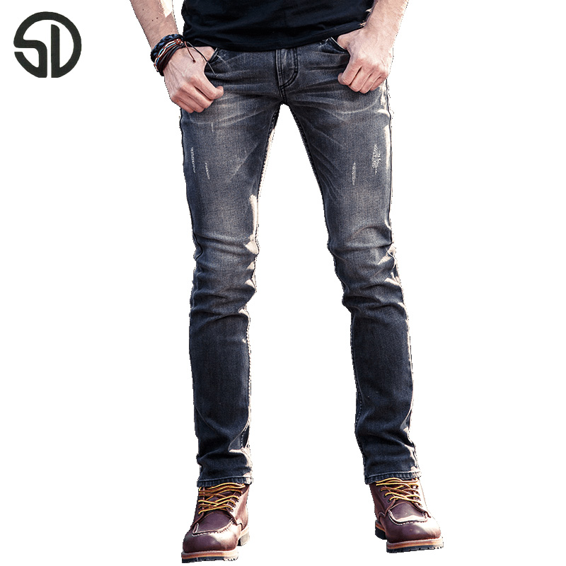 2017 New Gray European Jeans Mens High Quality Four seasons Denim Jeans Pants For Men Biker Designer Cotton Jeans Man