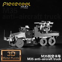 NEW Metal 3d Three Dimensional M35 Military Motor Lorry Assembling Model Toy Educational Toys Child Adult
