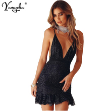 Sexy bandage Sequins Summer Dress Women befree Black Gold Backless Bodycon Dress elegant Nightclub Party Dresses Vestido clothes шапка befree befree mp002xw1213h