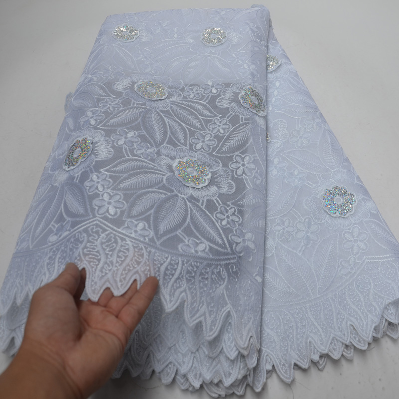 (5yards/pc) high quality white African Swiss voile lace fabric with 3D flowers and sequins embroidery for party dress OP106(5yards/pc) high quality white African Swiss voile lace fabric with 3D flowers and sequins embroidery for party dress OP106