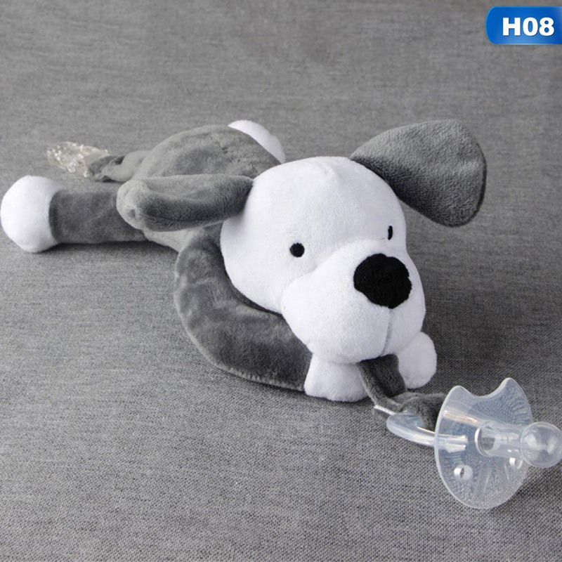 UK Baby Girl Boy Dummy Pacifier Chain Clip Animal Toys Plush Nipples Holder