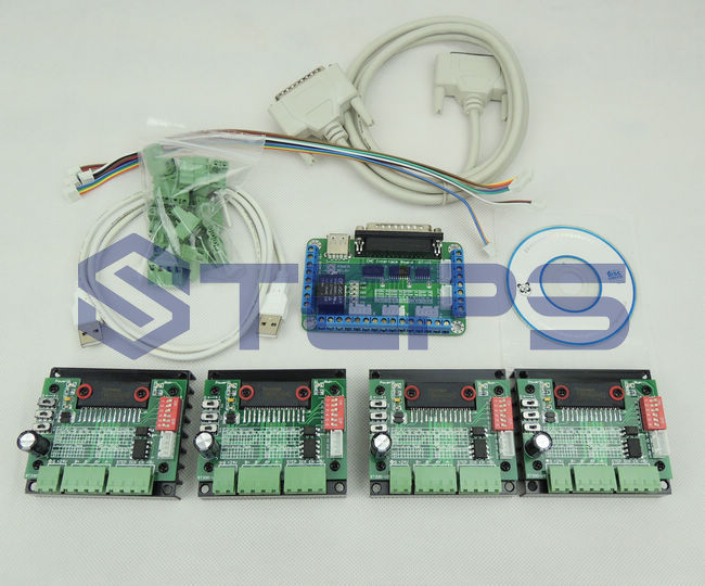 CNC 4 Axis TB6560 3.5A Stepper Motor Driver Controller Board Kit free shipping high quality 4 axis tb6560 cnc stepper motor driver controller board 12 36v 1 5 3a mach3 cnc 12