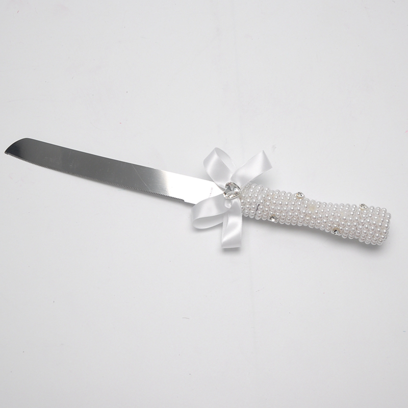 Birthday Cake Wedding Cutting Fork And Knife Personalized Gift Original Floral With Pearl Ribbon On Aliexpress