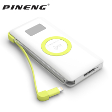 Pineng 10000mah  Power Bank PN-888 Portable Battery Mobile Li-Polymer PowerBank Support Wireless Quick Charge 3.0 For iphoneX