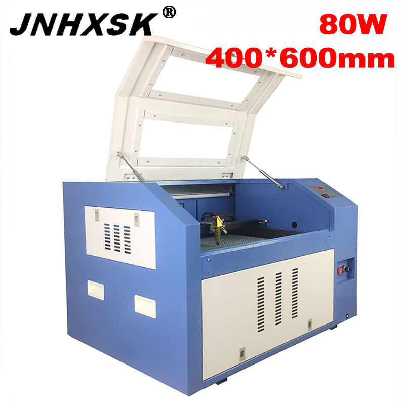 JNHXSK 80w Co2 Laser CNC 4060 Laser Engraving Cutter Machine Laser Marking Machine Mini Laser Engraver Cnc Router Diy Machine