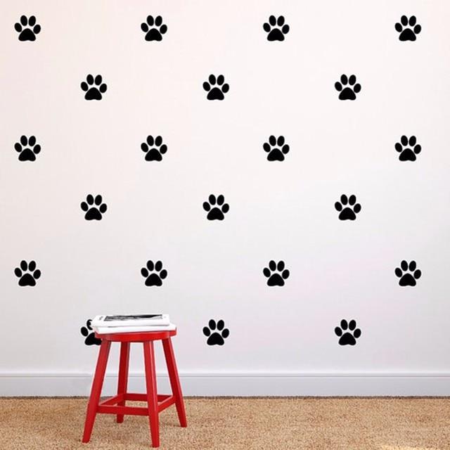 60 Teile Los Hunde Pfoten Wandaufkleber Diy Wohnkultur Kinder