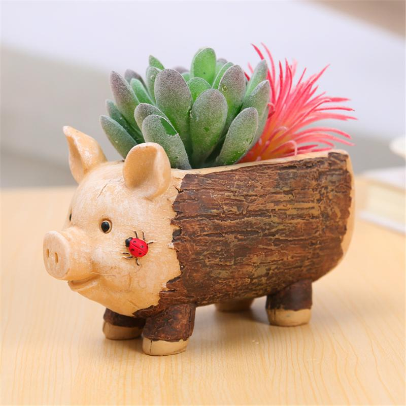 Pleasing Us 1 83 42 Off Funny Pig Tree Stool Flowerpot Resin Succulent Plant Planters Pen Pots Holder Elephant Shape Baby Flowerpot For Home Garden In Flower Pabps2019 Chair Design Images Pabps2019Com