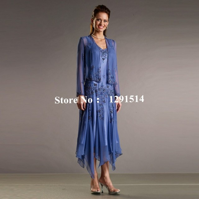 Fashion Mother Of The Bride Groom Dresses With Jacket For Summer Beach Wedding Party Beading Plus