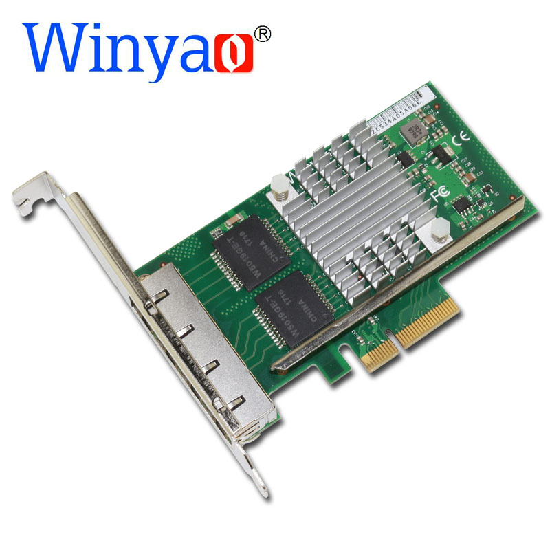 Winyao WYI350-T4V2 PCI-E X4 RJ45 Dual Port Server Gigabit Ethernet 10/100/1000Mbps Network Interface Card For intel i350-T4 NIC pci express dual port 10 100 1000mbps gigabit ethernet controller card server adapter nic expi9402pt 9402pt 82571