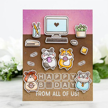 Happy Bears Transparent Clear Silicone Stamps For DIY Scrapbooking Cards Making Crafts Supplies New 2019 hugs sentiments transparent clear silicone stamps for diy scrapbooking cards making craft supplies new 2019